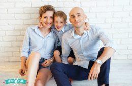 Camasi Mama Tata si Fiu – dungi alb bleu