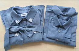 Camasi Tata Fiu si Rochie Mama – bumbac jeans