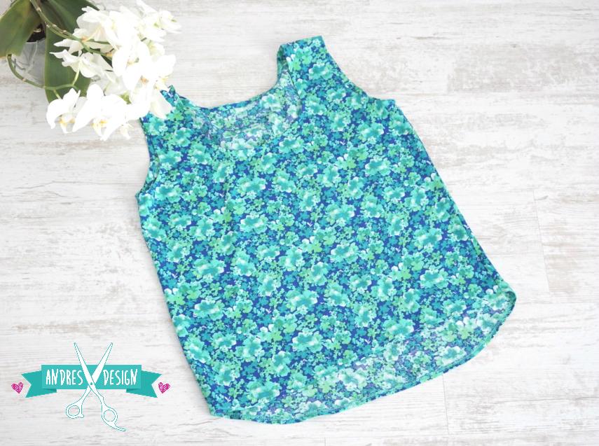 Bluza Fara Maneci – flori verzi