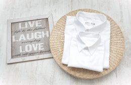 Camasi Elegante Tata si Fiu – albe