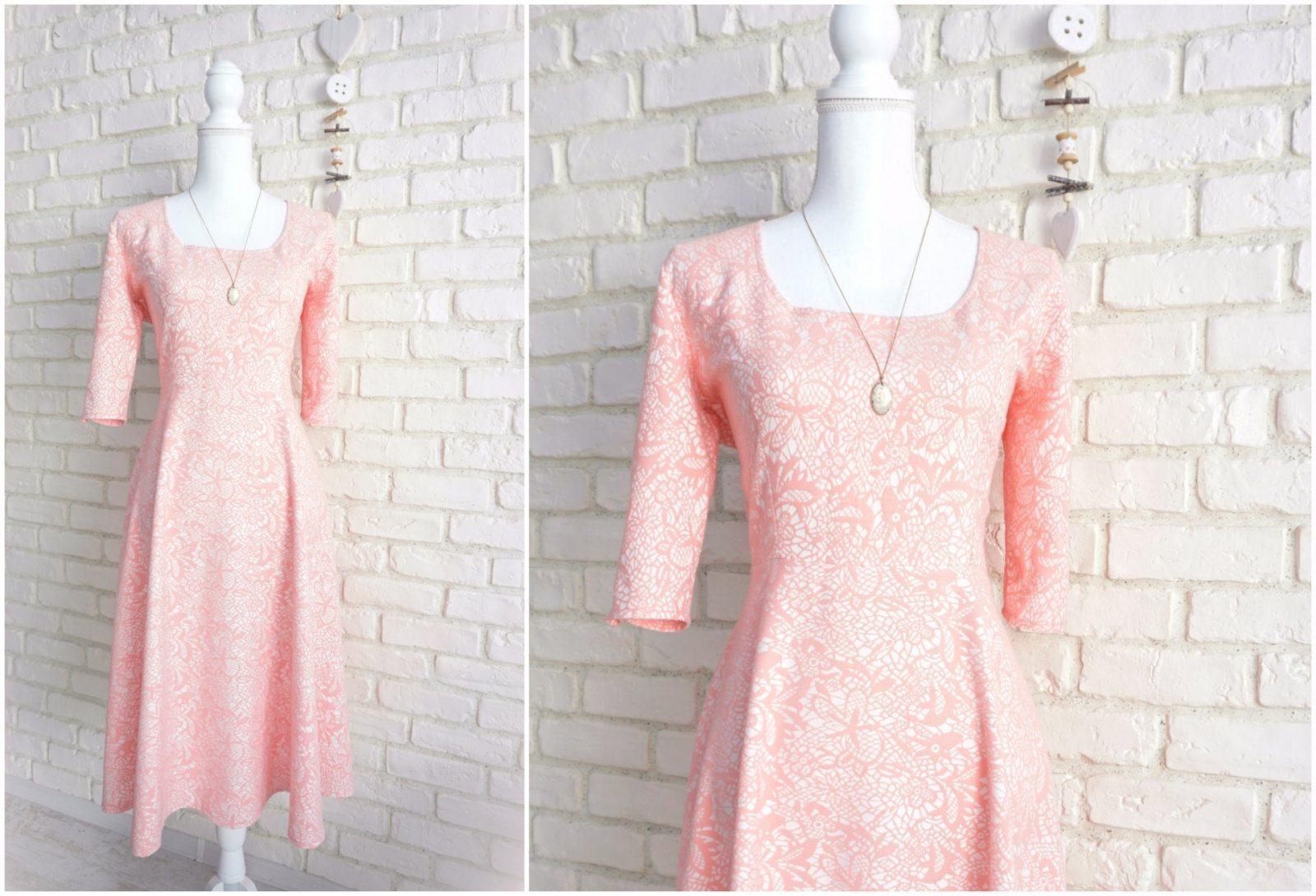 Rochie Clos Eleganta – jacquard roz pastel