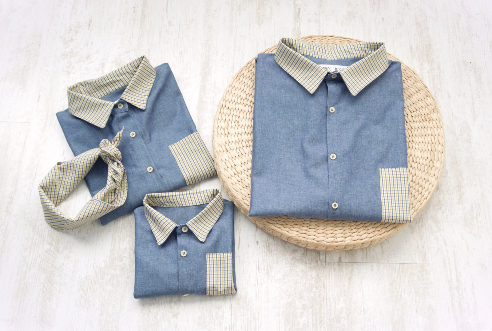 Camasi Familie – jeans si carouri