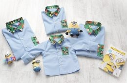 Camasi Maneca Lunga Familie – bleu cu minioni supereroi