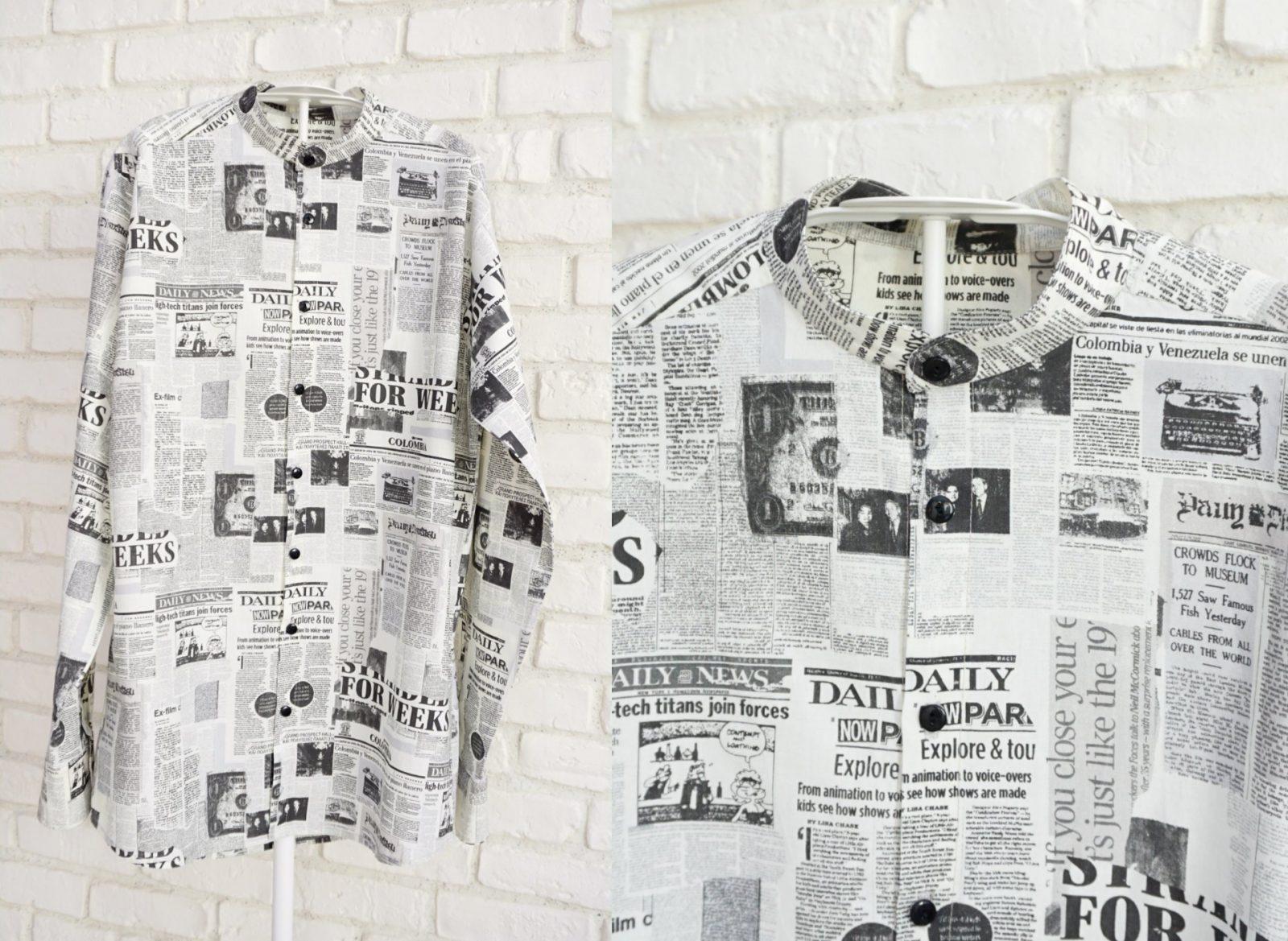 Camasa Barbati Guler Tunica – imprimeu ziar