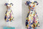 Rochie Clos Flori Colorate – cu buzunare