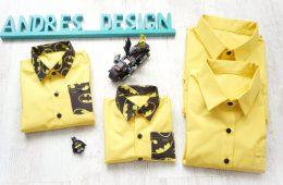 Camasi Familie – galbene cu Batman