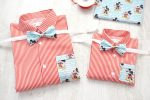 Camasi Tata Fiu – dungi alb rosu cu Mickey Mouse