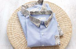 Camasi Tata Fiu – jeans bleu cu note muzicale