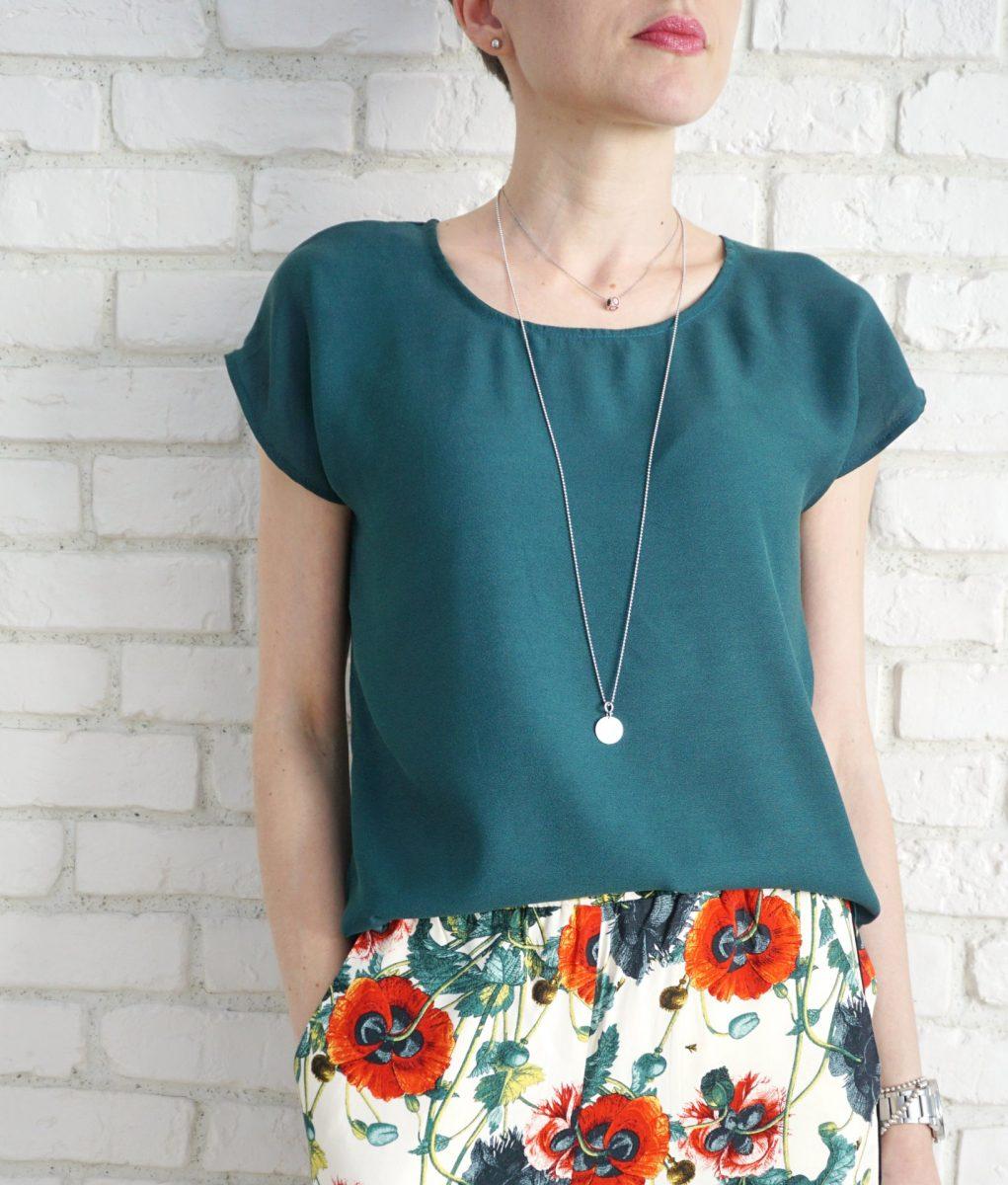Bluza Eleganta Lejera Triplu Voal Verde