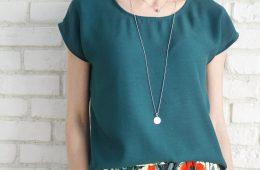 Bluza Eleganta Lejera – triplu voal verde