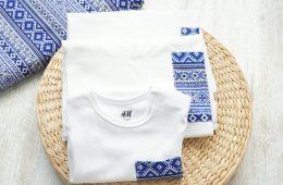 Tricouri Mama Tata si Bebe – motive romanesti albastre