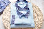 Camasi Tata Fiu – bleu cu motive romanesti