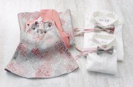 Haine Asortate Familie – brocart argintiu roz