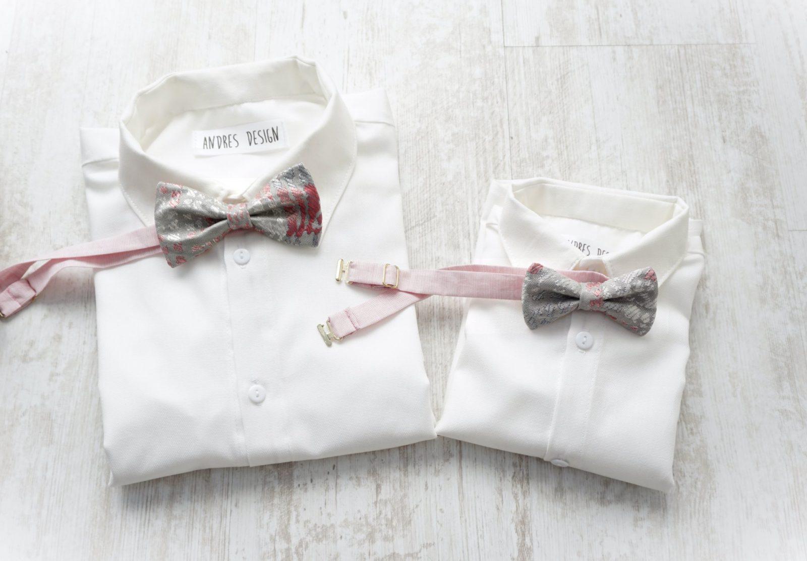 Papioane Tata si Fiu – brocart argintiu cu roz