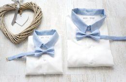 Camasi Maneca Lunga Tata Fiu – alb cu bleu