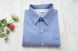 Camasa Barbati – motive albastru cu alb