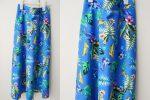 Fusta Midi Flori Tropicale Albastru – marime S