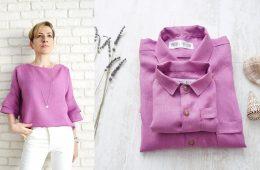 Bluza Mama si Camasi Tata Fiu – in violet