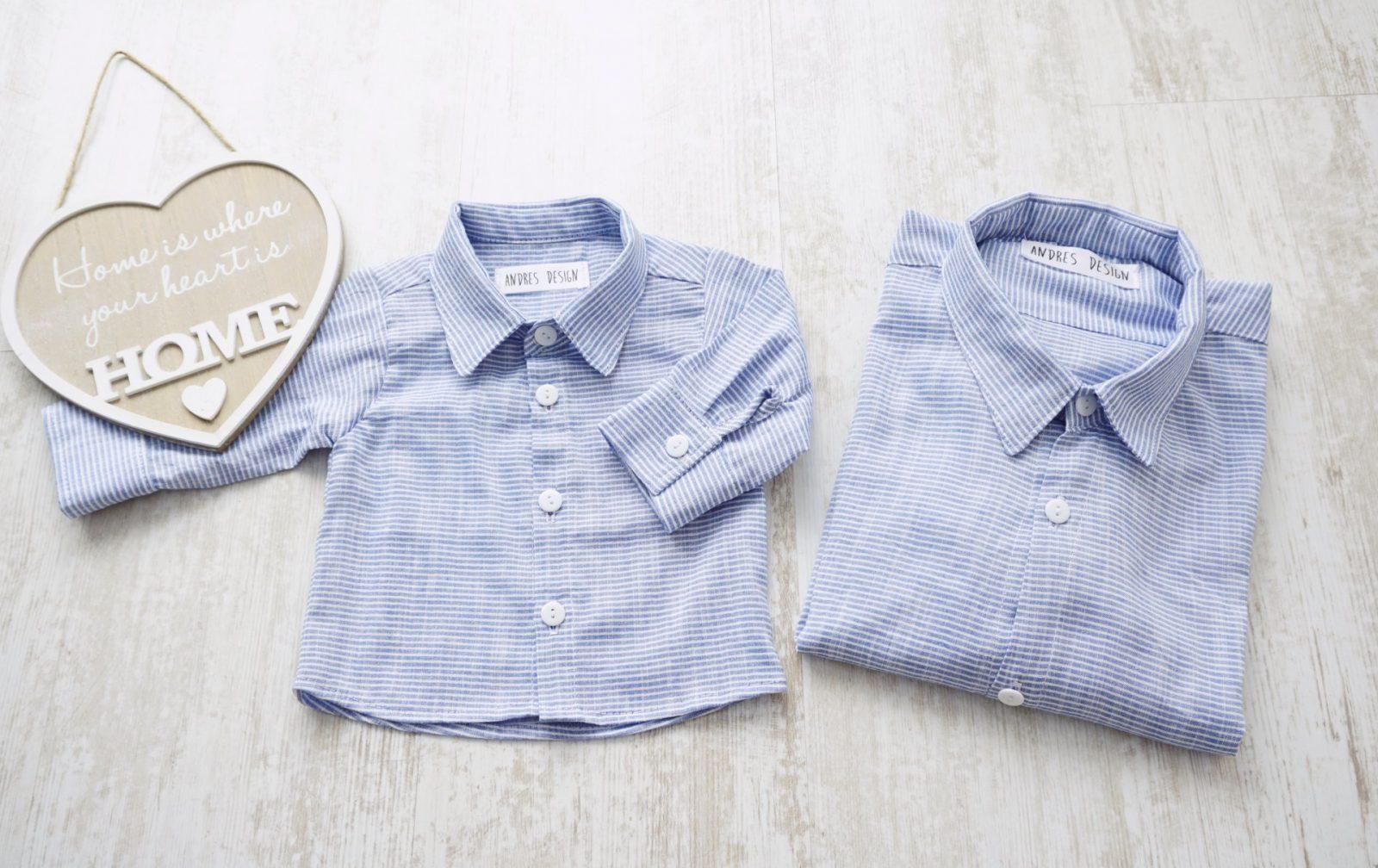 Camasi Tata Fiu – in dungi alb bleu