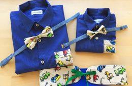 Camasi Tata Fiu – albastru cu buline si utilaje