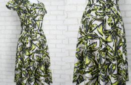 Rochie Midi Clos Frunze – cu buzunare