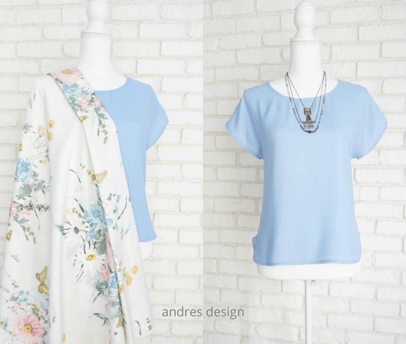 Bluza Eleganta Lejera Triplu Voal Bleu