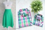 Fusta Verde si Camasi Carouri Colorate
