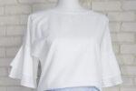 Bluza Lejera Volane – in alb