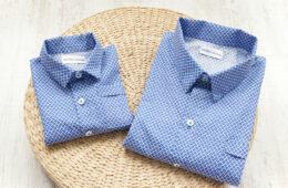 Camasi Tata Fiu – motive albastru cu alb