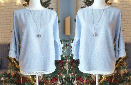 Bluza Lejera Volane – dungi alb bleu