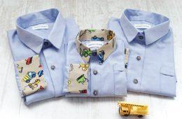 Camasi Familie – bleu cu utilaje bej