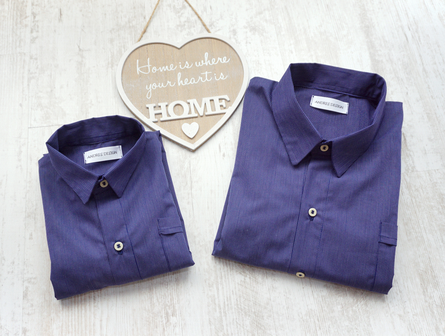 Camasi Tata Fiu Albastre cu Dungi