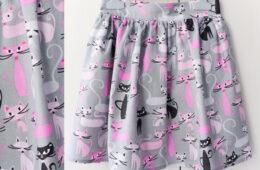 Fusta Incretita Fetite – pisici roz