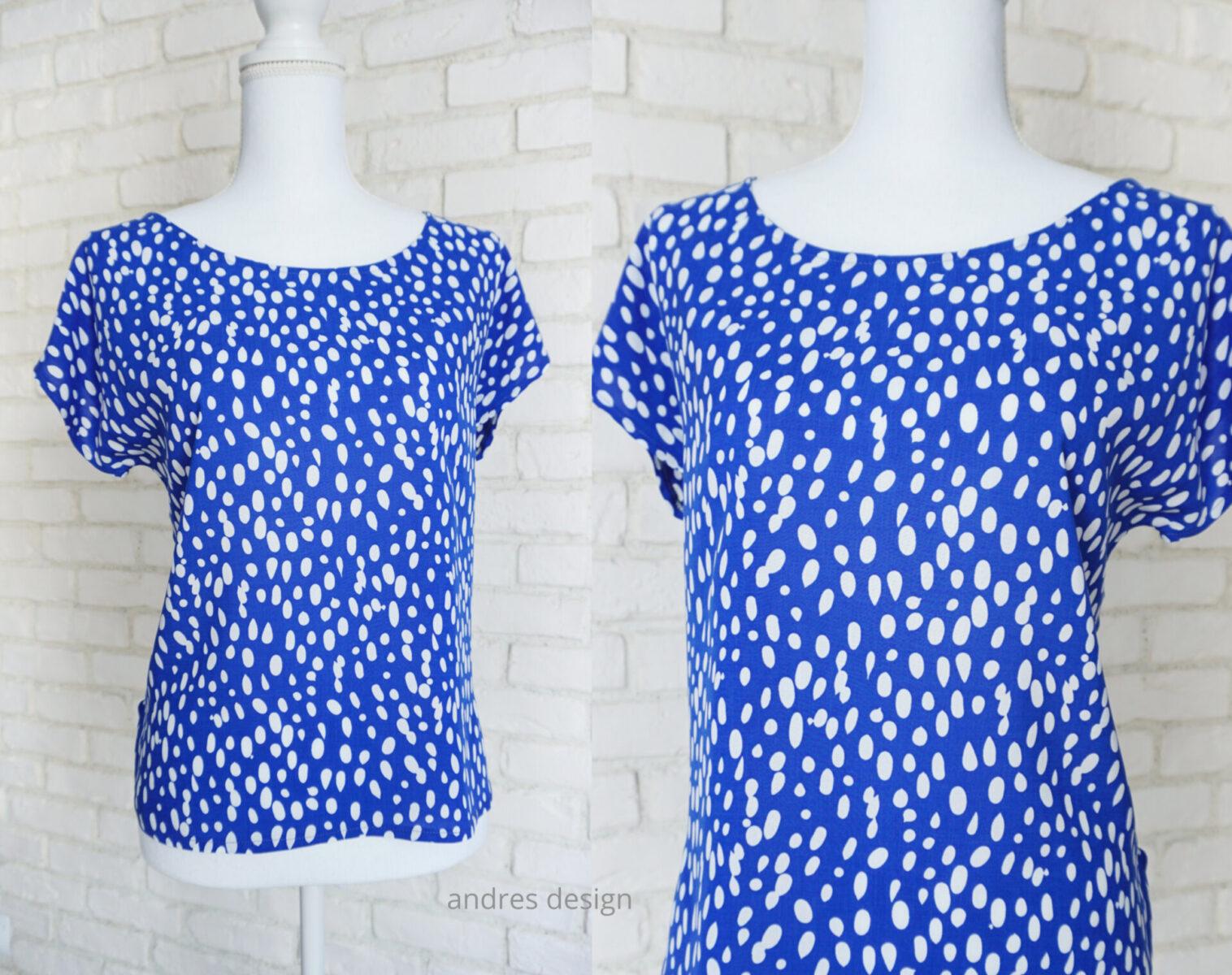 Bluza Lejera Albastru cu Alb