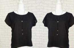 Bluza Eleganta Lejera Triplu Voal Negru